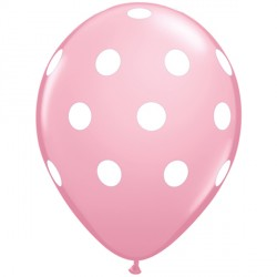 "BIG POLKA DOTS 11"" PINK (6X6CT)"