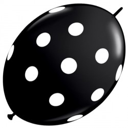 "BIG POLKA DOTS QUICK LINK 12"" ONYX BLACK (50CT)"