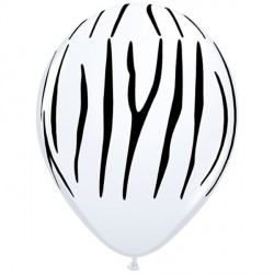 "ZEBRA STRIPES 11"" WHITE (25CT)"