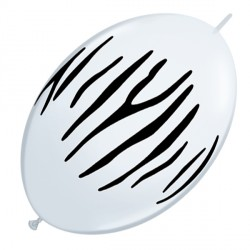 "ZEBRA STRIPES QUICK LINK 12"" WHITE (50CT)"