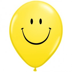 """SMILE FACE 11"""" YELLOW (25CT)"""