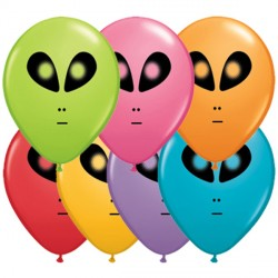 "SPACE ALIEN 5"" FESTIVE ASSORTED (100CT)"
