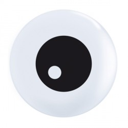 "FRIENDLY EYEBALL TOP PRINT 5"" WHITE (100CT)"
