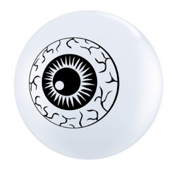 "EYEBALL TOP PRINT 5"" WHITE (100CT)"