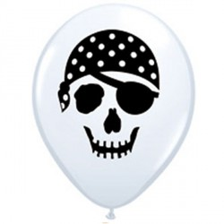 "PIRATE SKULL 5"" WHITE (100CT)"