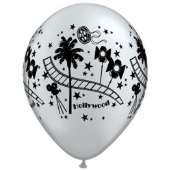 "HOLLYWOOD STARS 11"" SILVER (25CT)"