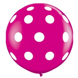 BIG POLKA DOTS-A-ROUND 3' WILD BERRY (2CT)