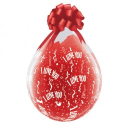 "I LOVE YOU-A-ROUND 18"" DIAMOND CLEAR (25CT)"