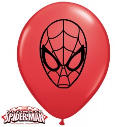 "SPIDER-MAN ULTIMATE FACE 5"" RED (100CT)"