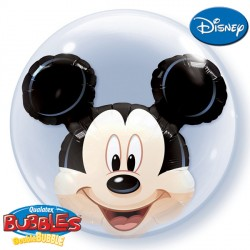 "MICKEY MOUSE HEAD 24"" DOUBLE BUBBLE KAH"