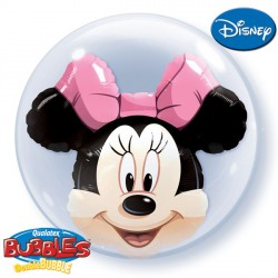 "MINNIE MOUSE HEAD 24"" DOUBLE BUBBLE"