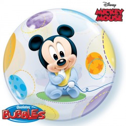 """MICKEY MOUSE BABY 22"""" SINGLE BUBBLE"""