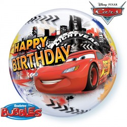 "CARS LIGHTNING McQUEEN & MATER BIRTHDAY 22"" SINGLE BUBBLE"