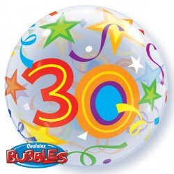 "30 BRILLIANT STARS 22"" SINGLE BUBBLE"