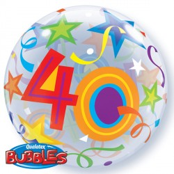 "40 BRILLIANT STARS 22"" SINGLE BUBBLE"