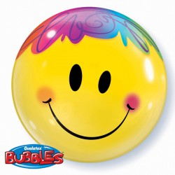 "BRIGHT SMILE FACE 22"" SINGLE BUBBLE"