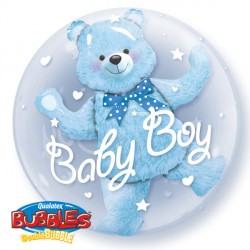 "BABY BLUE BEAR 24"" DOUBLE BUBBLE"