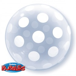 "BIG POLKA DOTS 20"" DECO BUBBLE"