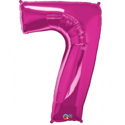 "MAGENTA NUMBER 7 SHAPE GROUP D 42"" PKT YCJ"