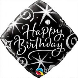 """ELEGANT SPARKLES & SWIRLS BIRTHDAY 18"""" PKT"""