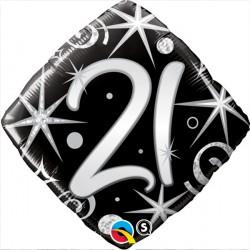 "21 ELEGANT SPARKLES & SWIRLS 18"" PKT"