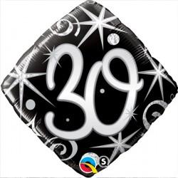 "30 ELEGANT SPARKLES & SWIRLS 18"" PKT"