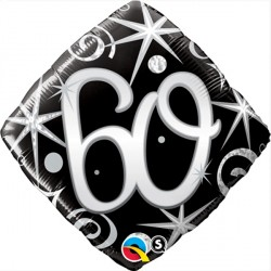 "60 ELEGANT SPARKLES & SWIRLS 18"" PKT"