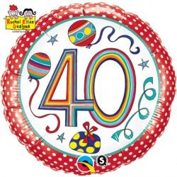 """RACHEL ELLEN 40 POLKA DOTS & STRIPES 18"""" PKT"""