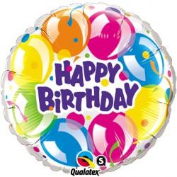 "BIRTHDAY SPARKLING BALLOONS 18"" PKT"