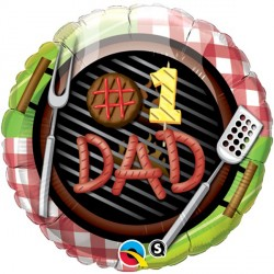 "#1 DAD GRILL 18"" PKT"