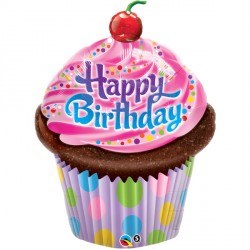 "BIRTHDAY FROSTED CUPCAKE 35"" SHAPE GROUP B PKT"