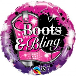 "BOOTS & BLING 18"" PKT"