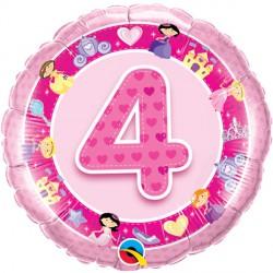 "AGE 4 PINK PRINCESS 18"" PKT"