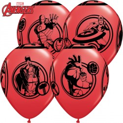 "AVENGERS ASSEMBLE 12"" RED (6X6CT)"