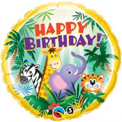 "JUNGLE FRIENDS BIRTHDAY 18"" PKT"