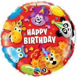 "PARTY ANIMALS BIRTHDAY 18"" PKT"