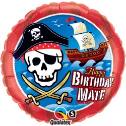 "BIRTHDAY MATE PIRATE SHIP 18"" PKT"