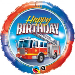 "BIRTHDAY FIRE TRUCK 18"" PKT"