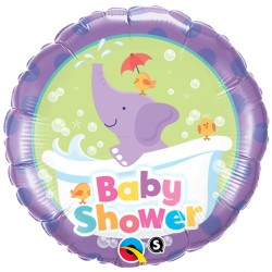 "BABY SHOWER ELEPHANT 18"" PKT"