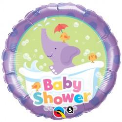 "BABY SHOWER ELEPHANT 18"" PKT"