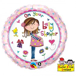 "RACHEL ELLEN ON YOUR BABY SHOWER 18"" PKT"