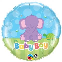"BABY BOY ELEPHANT 18"" PKT"