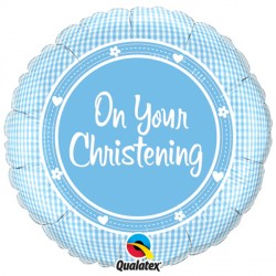 "ON YOUR CHRISTENING BOY 18"" PKT"