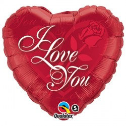 "I LOVE YOU RED ROSE 18"" PKT"