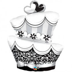 "FUN & FABULOUS WEDDING CAKE 42"" SHAPE GROUP C PKT"