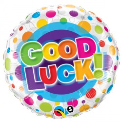 "GOOD LUCK COLOURFUL DOTS 18"" PKT"