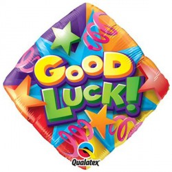 "GOOD LUCK STARS & STREAMERS 18"" PKT"
