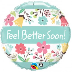"FEEL BETTER SOON! FLORAL 18"" PKT"