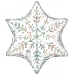 "DAZZLING SNOWFLAKE 22"" SHAPE GROUP A PKT"