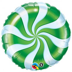 "CANDY SWIRL GREEN 18"" PKT"